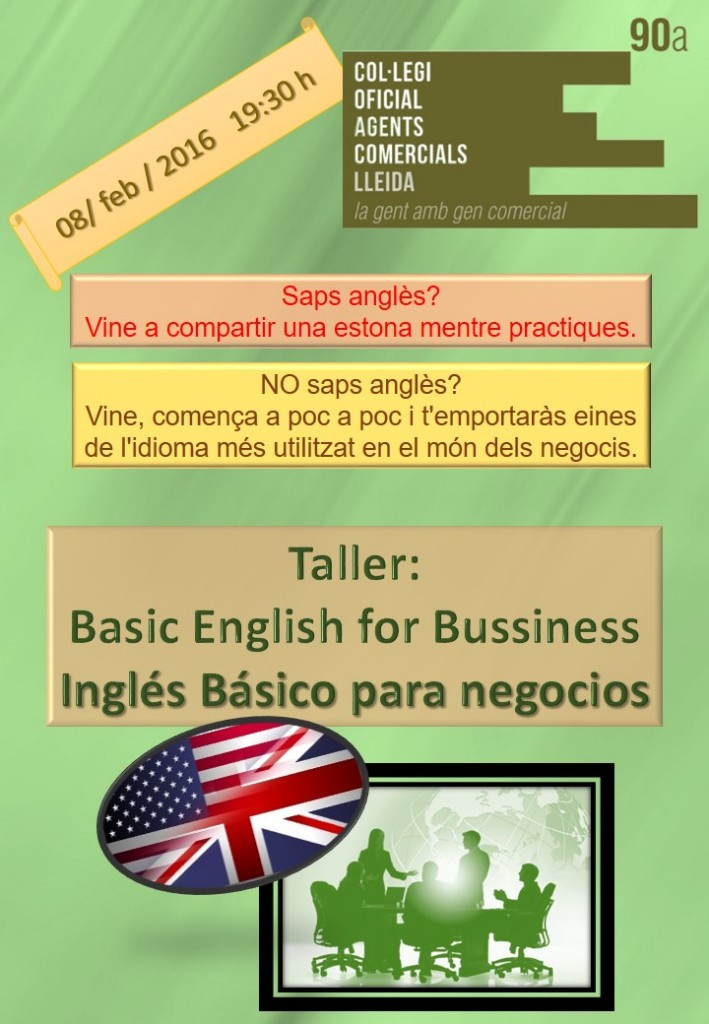 20160203_English workshop poster 8 de enero